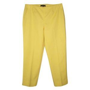 Lafayette 148 Cropped Bleecker Pants 8 Yellow